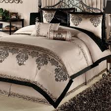 luxury gold and black bedding set ideas with brown rug
