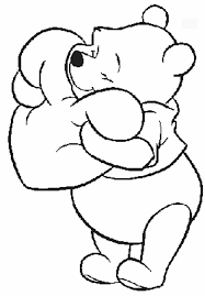 Cartoon Character Valentine Coloring Pages