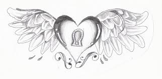 Small Picture Emo Hearts With Wings Drawings Coloring Coloring Pages