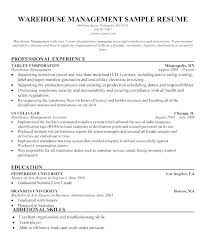 Hr Resume Objective Statements Inspiration Resume Objective Statement Examples For Warehouse Worker Logistics