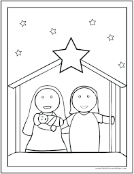 Printable Nativity Coloring Pages Free Printable Nativity Scene