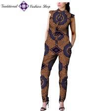 Traditional Jumpsuit Designs African Women Ankara Print Jumpsuit Traditional Fashion Shop