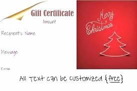 Christmas Gift Certificate Template Free Puebladigital Net