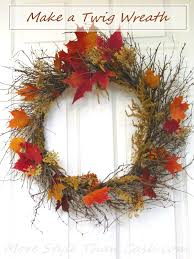 making a twig wreath is easy and with the change of the seasons it can be a great gift
