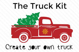 Christmas tree red truck svg dxf png eps cutting files. Pin On Cricut