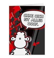 Ohne Dich Ist Alles Doof Midi Pop Art Karte Nr 62 Dog Toyde