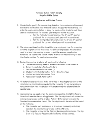 national junior honor society letter of recommendation example  national honor society application essay example examples of national honor society essays leadership essays sendrazicefo gallery