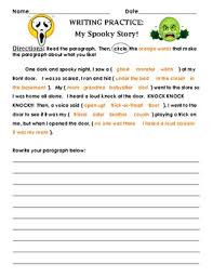 guided writing for halloween my spooky story by the teacher treasury guided writing for halloween my spooky story