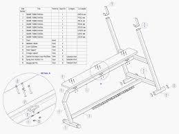 olympic flat bench press plan subassembly list
