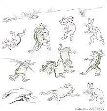 鳥獣戯画のイラスト素材 Pixta