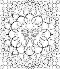 free coloring calendar erfly mandala page by thaneeya