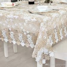 european elegant lace embroidered tablecloth glass yarn tea table cloth round tablecloth modern adornment tablecloth grey tablecloth french tablecloths