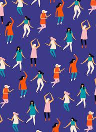 People Pattern Delectable People Pattern By Naomi Wilkinson Surfacepattern Blue Repeat