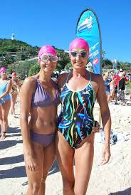 BRAVING IT: Jan Terkelsen from Byron Bay and Gina Lynch ... | Buy Photos  Online | Northern Star