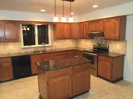 Granite Top Kitchen Islands Kitchen Delectable U Shape Kitchen Decoration Using Light Brown