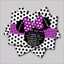 Minnie Mouse Invitation Design Us 5 39 40 Off 14 Pcs Lot Custom Purple Minnie Mouse Birthday Invitations Minnie Mouse Baby Shower Invites Girls Birthday Party Decoration Card In