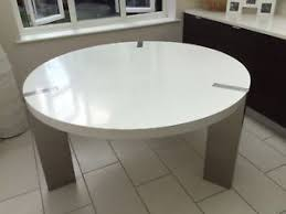 white round table. Large ILVA Modern Gloss White Round/Circular 6 Seater Dining Room Table Round