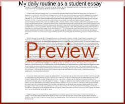 Essay on daily routine of a student