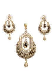 antique gold look american diamond designer pendant set ps2261314 a 1200x1799 jpg