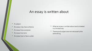 unseen essay english and an essay is written about a  2 an