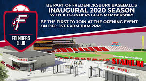 Nationals Park Concert Seating Chart Fredericksburg Baseball Announces Founders Club Membership