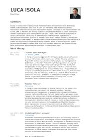 Resume Samples For Channel Sales Creative Catering Sales Manager Resume  Samples For Job Seekers