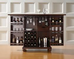 Mini Bars For Living Room Integrated Living Room And Home Bar With Brown Hickory Wood