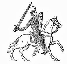 Piešiniai ir darbeliai: Spalvinimo paveiksliukas - Riteris ant žirgo