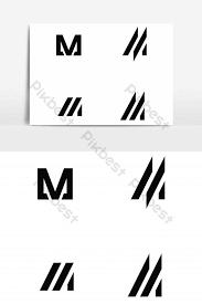 M Logo Unicolor Graphic Element Graphic Elements Template