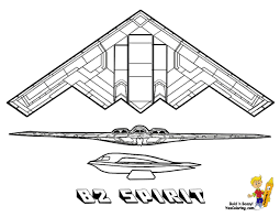 13 B2 Spirit Airplane At Coloring Pages Book For Kids Boys 15