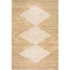 nuloom melida diamond jute bleached 8 ft x 10 ft area rug