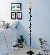 Really cool floor lamps Tall Multicolour Glass Floor Lamp Pepperfry Floor Lamps Buy Designer Floor Lamps Online In India At Best