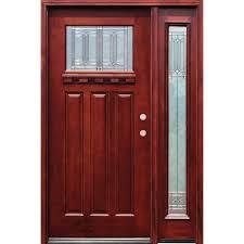 craftsman double front door. Diablo Craftsman 1 Lite Stained Mahogany Wood Double Front Door A