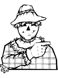free scarecrow coloring pages 18452