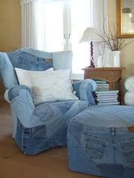 blue jeans to sit on
