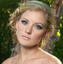 blonde hair blue eyes wedding makeup photo 1