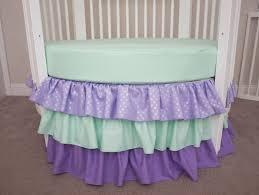 unique round crib perless mint and lavender by handmadebysasha purple and mint crib bedding