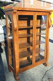 vintage oak bookcase with glass doors antique display cabinets extraordinary furniture dumound curio decorating ideas 9