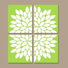 lime green wall prints