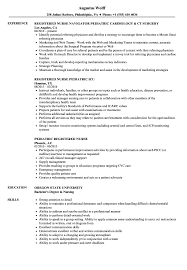 Pediatric Registered Nurse Resume Samples | Velvet Jobs
