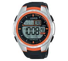 buy lorus men s orange detail digital watch at argos co uk your play video