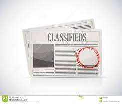 Newspaper Classified Ads Template Classified Ad Newspaper Business Concept Stock