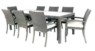 8 seater square outdoor dining set round sets for patio rattan grey dini cool person e