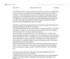 comparison of the tell tale heart the black cat and the  document image preview