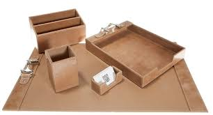 brown leather desk accessories hungrylikekevin with leather desk accessories renovation