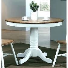 white round dining table for 6 chairs modern two tone brown and tables uk