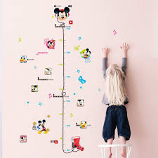 Us 1 98 20 Off Removable Kid Height Chart Mickey Mouse Measure Room Wall Sticker Home Decal Decor Care Growth Art In Wall Stickers From Home