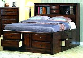 Storage Bed Frame King Reclaimed Wood Bed Frame King King Wood Bed ...