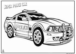 Small Picture Super Police car coloring page for kids
