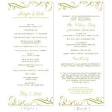 Microsoft Wedding Program Templates Publisher Wedding Program Template Marriage Free Bi Fold Templates